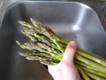A handful of fresh asparagus