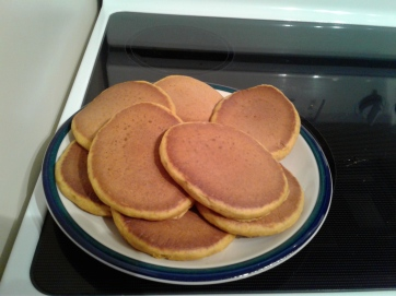 Plate of pumpkin spice pancakes