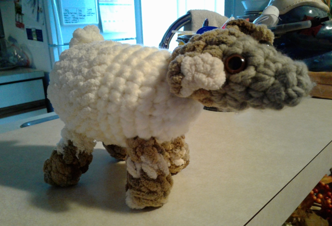 Crocheted lamb