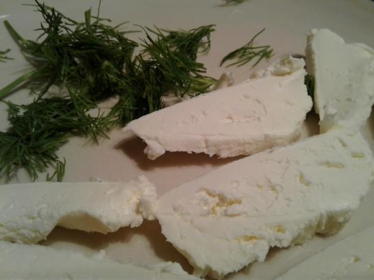 Cream cheese and fresh dill