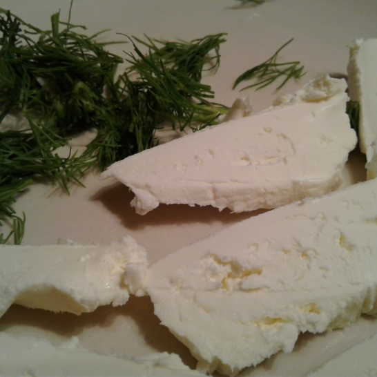 Cream cheese and fresh dill