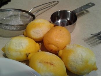 Lemons grated for lemon zest