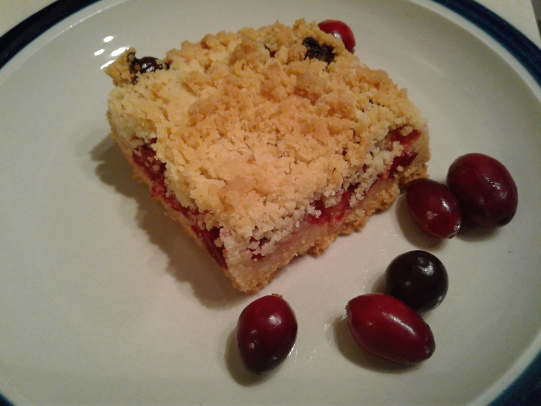 Fresh cranberry shortbread bars