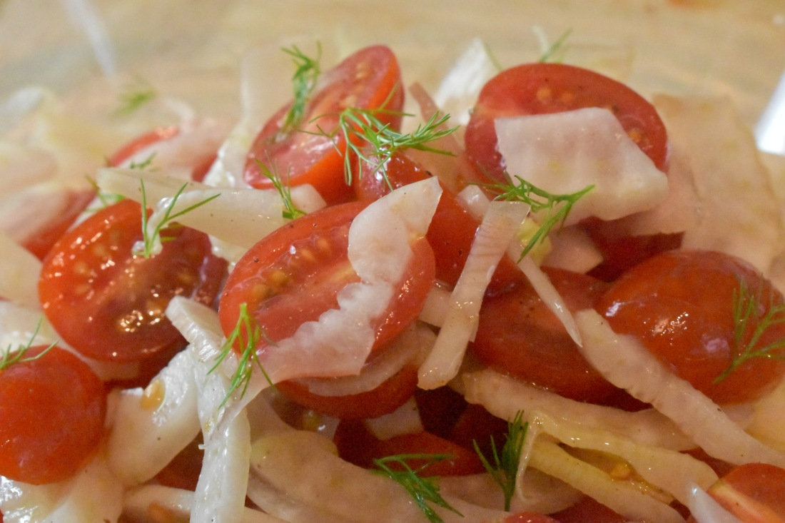 Florence fennel and tomato salad